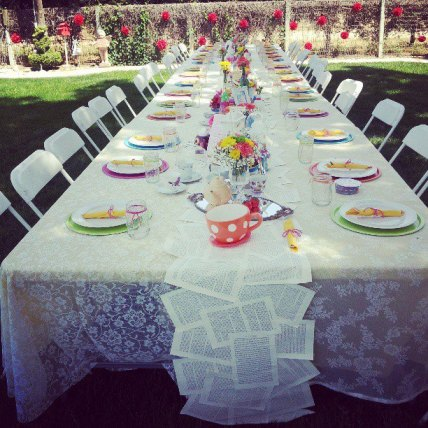 Mad Hatter Table Setting