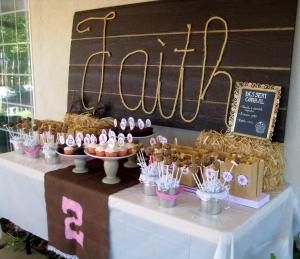 cowgirl dessert buffet