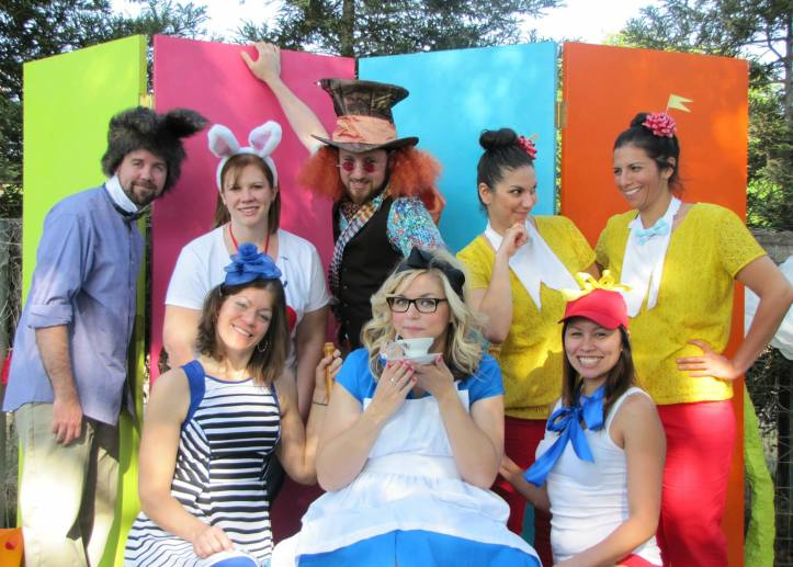 Mad Hatter photo backdrop