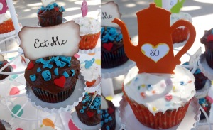 Mad Hatter cupcakes from Qute Hoots