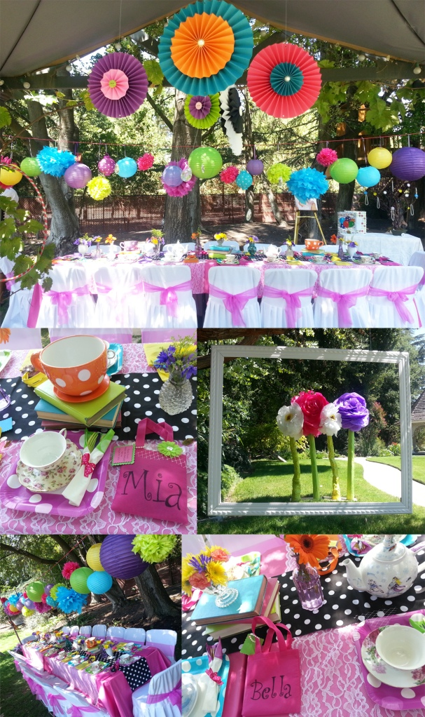 A bright and fun girls' tea party!