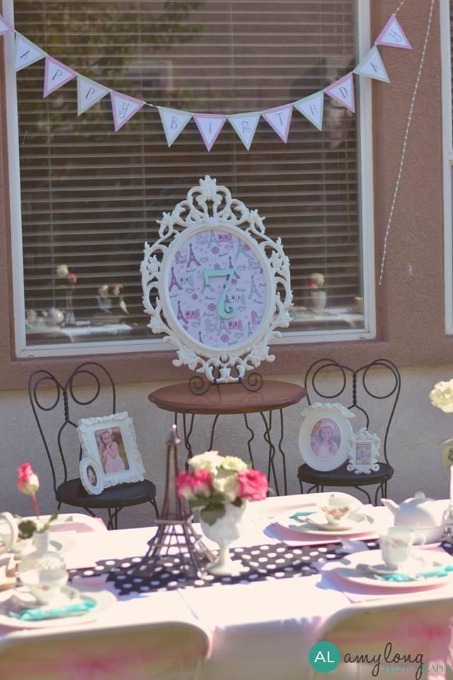 Parisian tea party little vignette