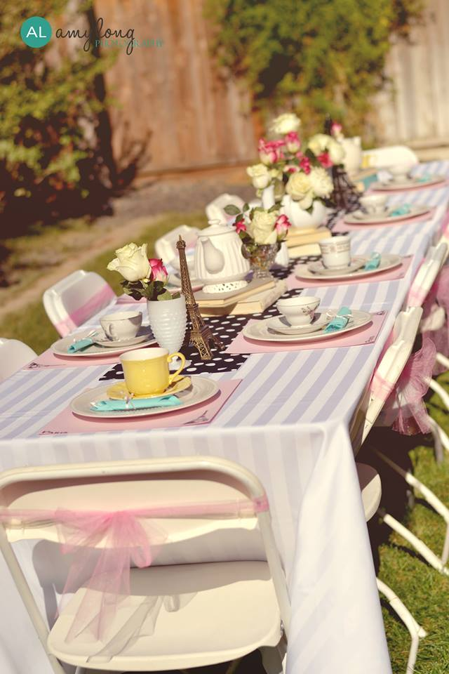 Parisian tea party table