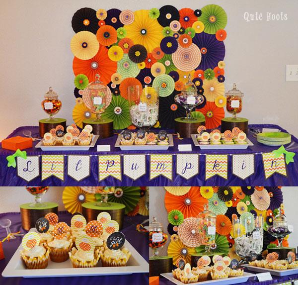Lil Pumpkin dessert table