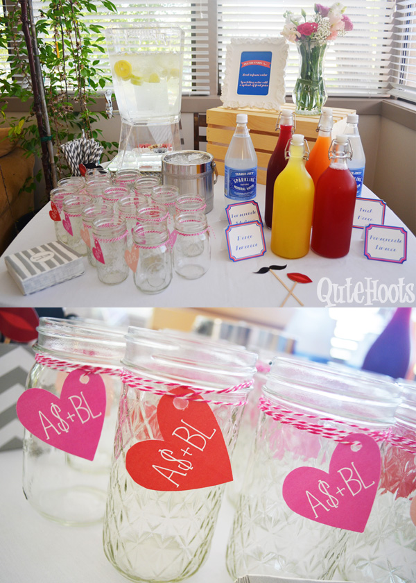 bridal shower beverage bar
