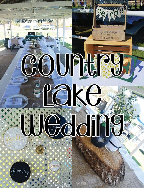 country lake wedding