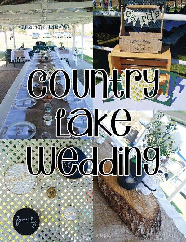 country lake wedding