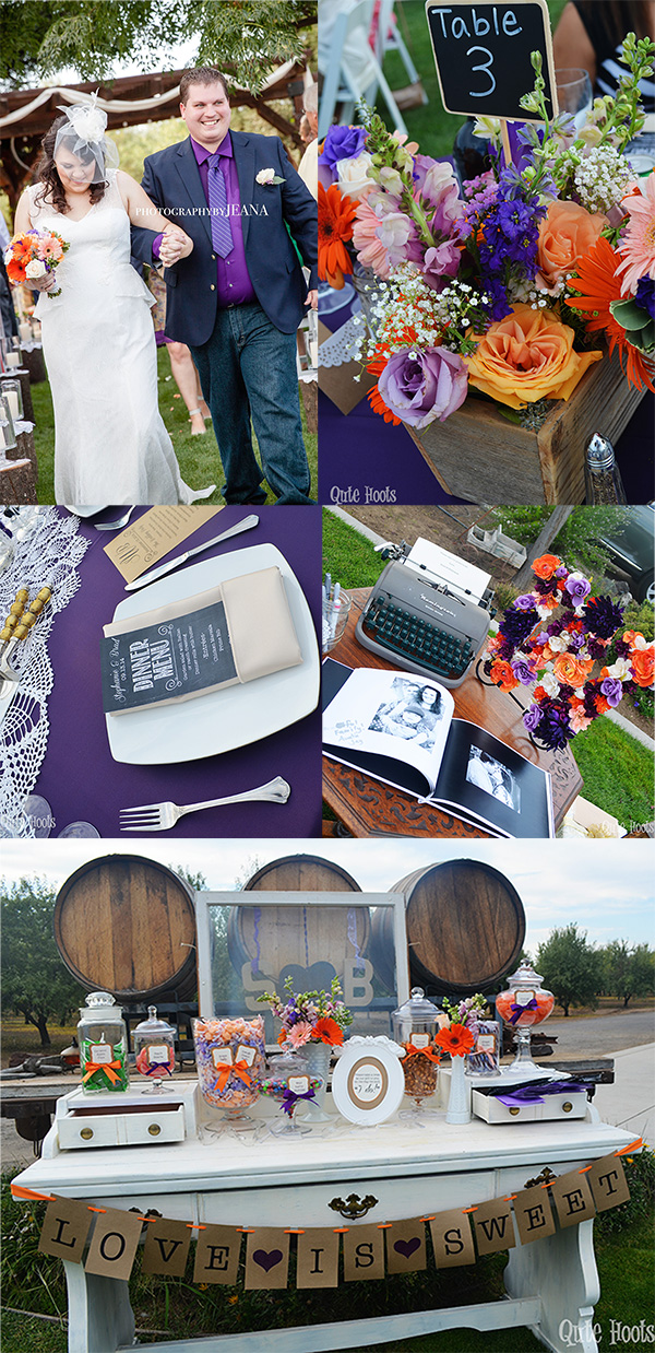 Purple and Orange Summer Wedding
