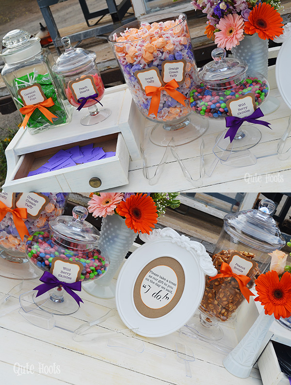 candy buffet vintage wedding