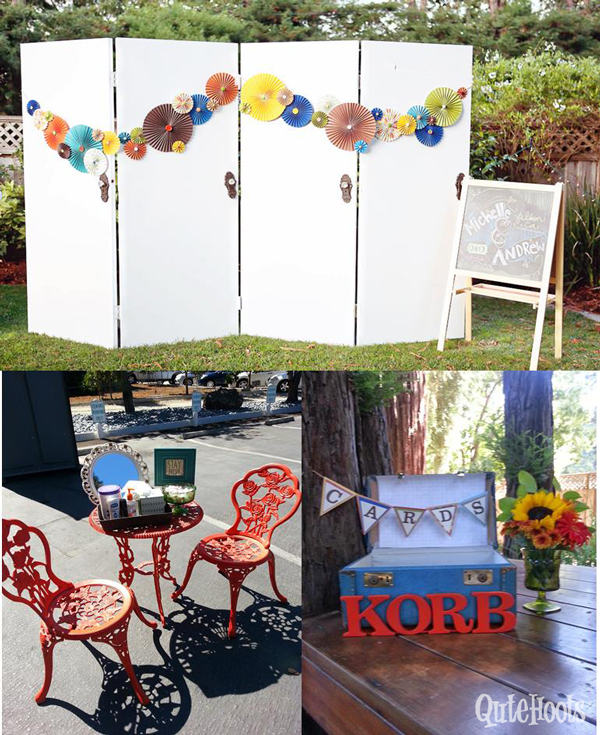 Photo area & chalk sign, resting area and card box!