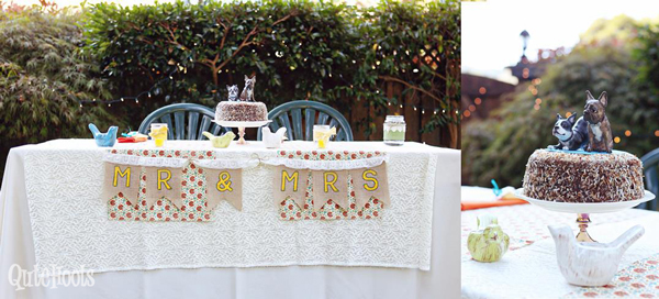 Sweetheart Table and Cake Topper.