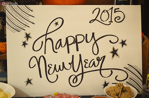 new year's eve party sign
