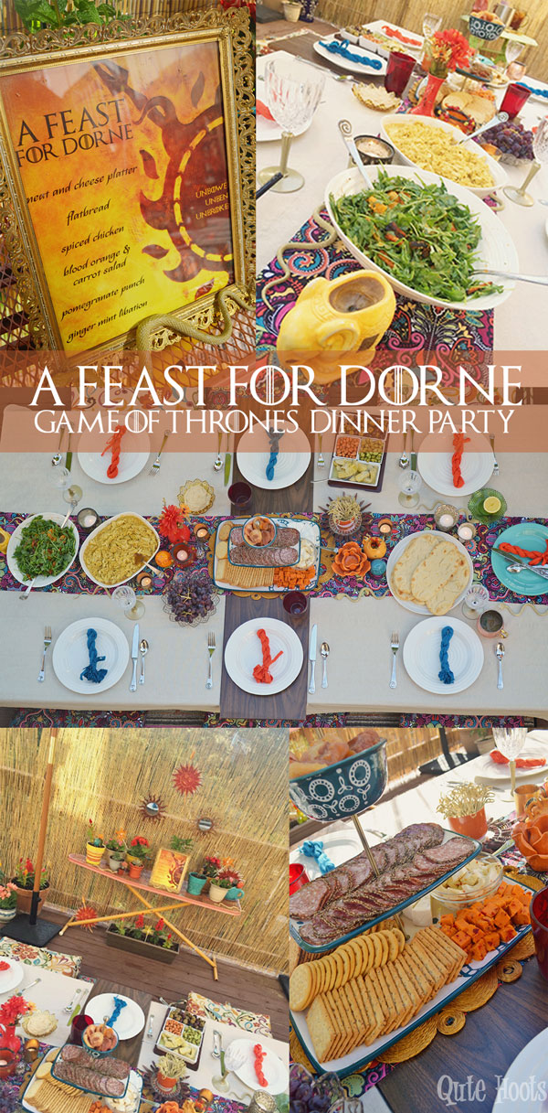 a feast for dorne dinner party - game of thrones