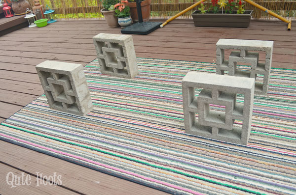 DIY low seating by Qute Hoots