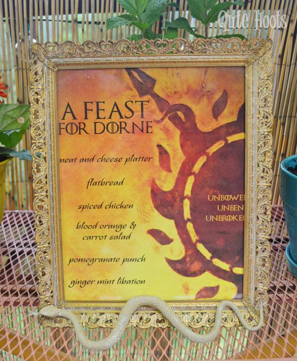 a feast for dorne menu