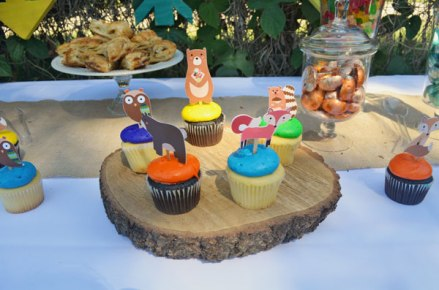 woodland tribal desserts cupcakes