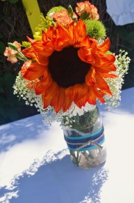woodland tribal flower arrangement