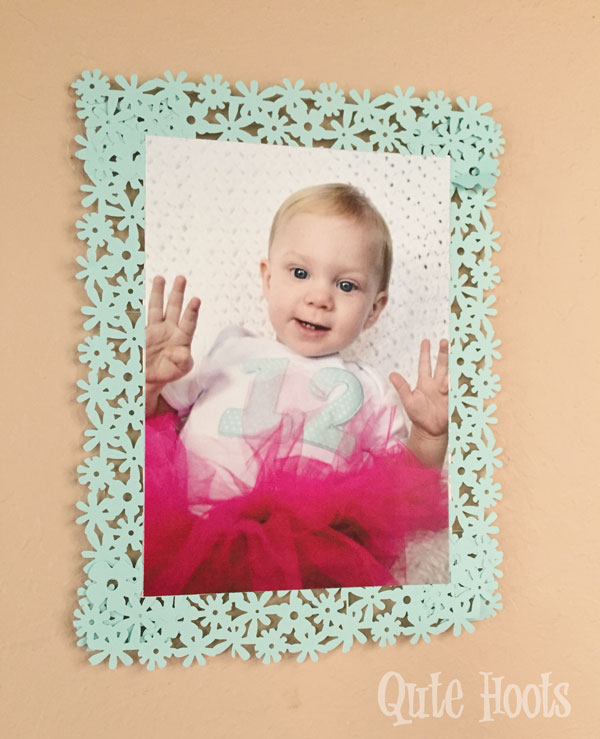 aqua pink gold photo wall